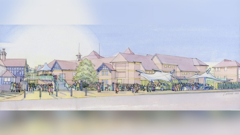 An artist's impression of the new-look approach to Chester racecourse