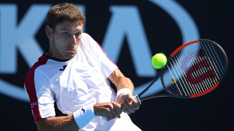 Pablo Carreno Busta during his second-round victory over Gilles Simon