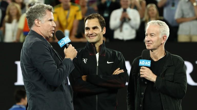 Will Ferrell and John McEnroe interview Roger Federer
