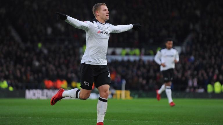 Derby forward Matej Vydra has 15 goals this season