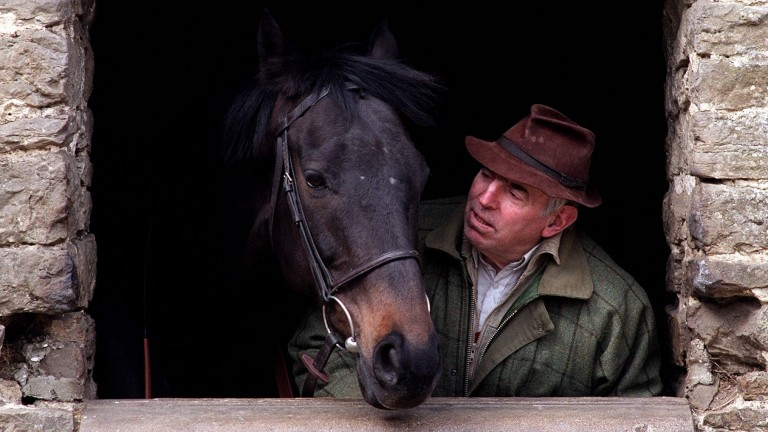 Trainer John Manners with Cavalero in March 2000