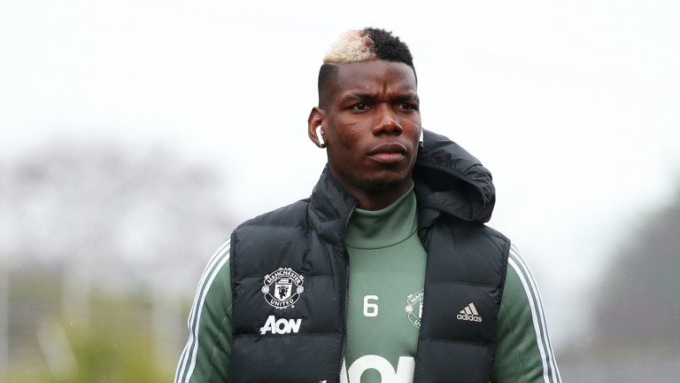 Manchester United superstar Paul Pogba arrives at Turf Moor