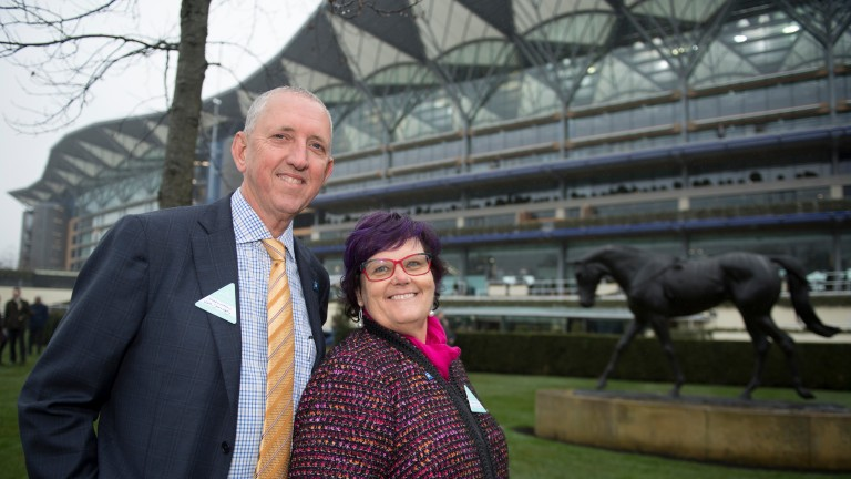 Winx's owners Peter Tighe and Debbie KepitisAscot 20.1.18 Pic: Edward Whitaker