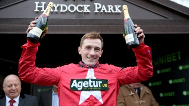 THE NEW ONE Ridden by Sam Twiston-Davies wins at HAYDOCK PARK 20/1/18Photograph by Grossick Racing Photography 0771 046 1723