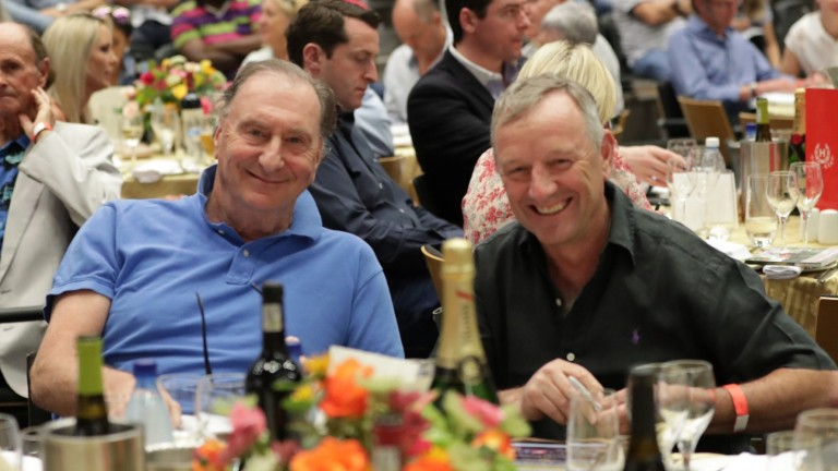 The Hong Kong Jockey Club's Nick Columb (left) and Mark Richards after a successful first foray into the South African market