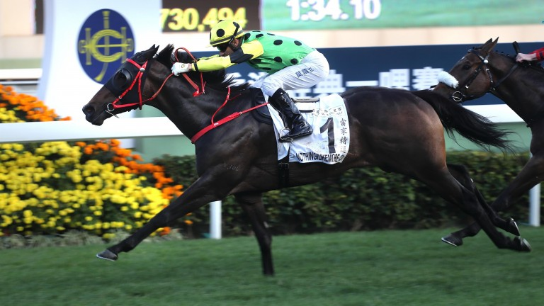Nothingilikemore: driven out by Joao Moreira to a comfortable win in the Hong Kong Classic Mile