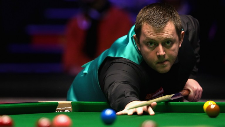 Mark Allen in action at the Alexandra Palace