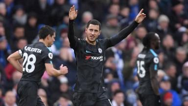 Eden Hazard starred for Chelsea at Brighton