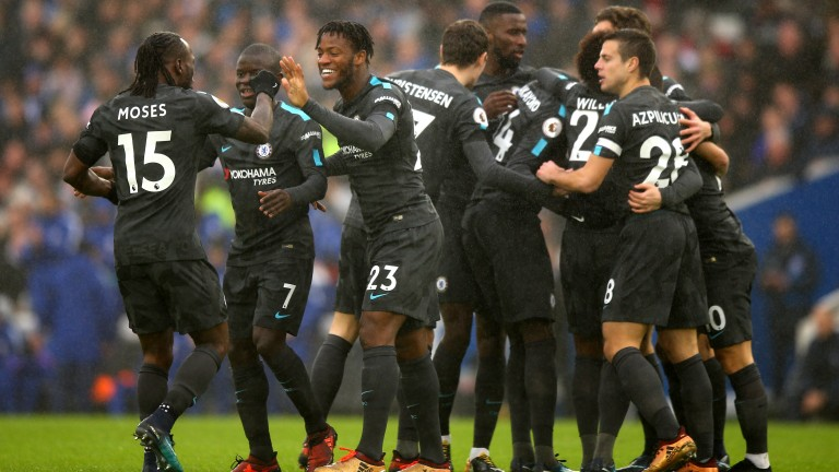 Chelsea celebrate against Brighton