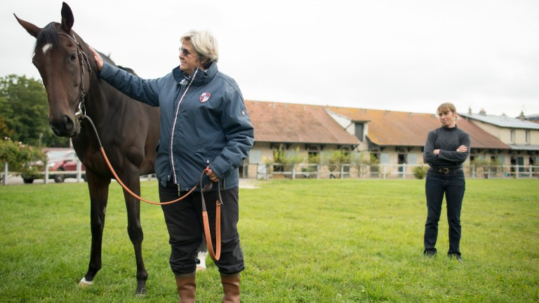 Criquette Head-Maarek with Treve the day the dual Arc winning filly was retired