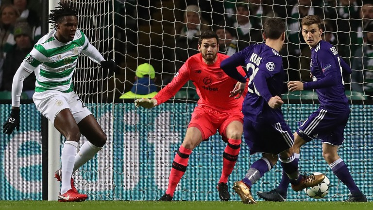 Anderlecht in Champions League action against Celtic