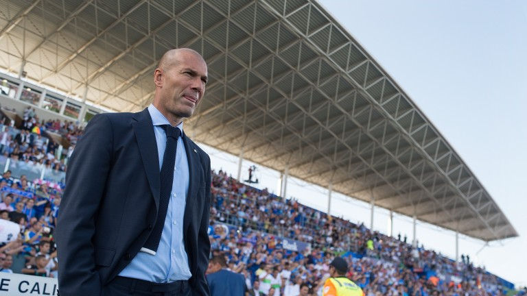 Real Madrid coach Zinedine Zidane can see his side ease into the semi-finals