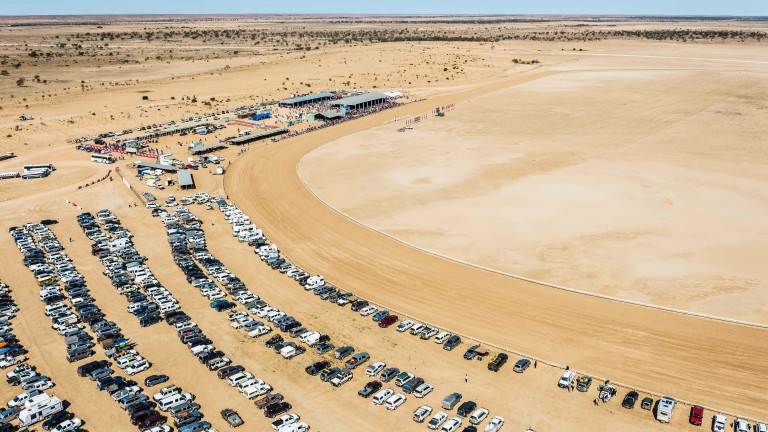 Birdsville races from the air