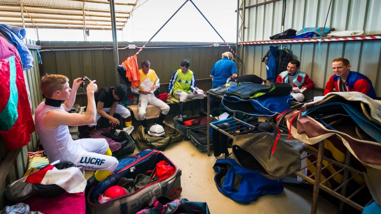 The jockeys' changing room at Birdsville