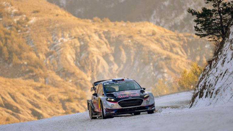 Sebastien Ogier on his way to victory in last year's Monte Carlo Rally