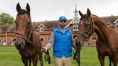 Saeed Bin Suroor with Dream Castle (left) and Benbatl – the duo are both in Dubai for the winter