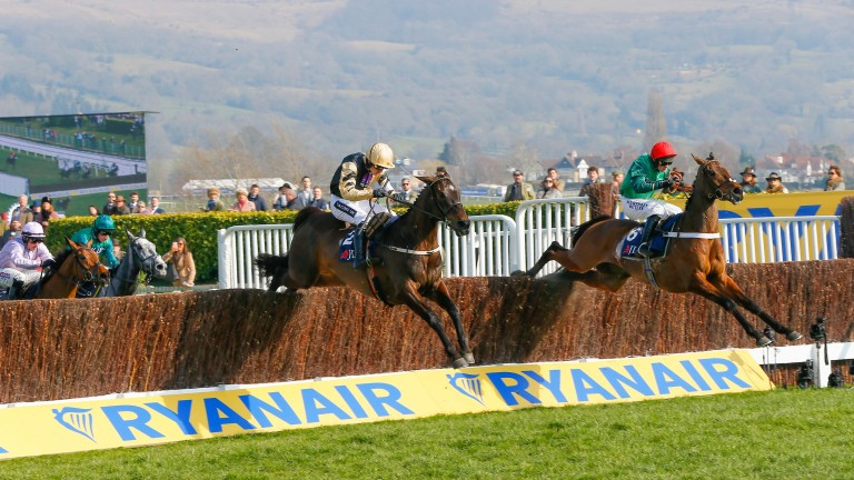L'Ami Serge (right) looks a good thing in the Sky Bet Chase