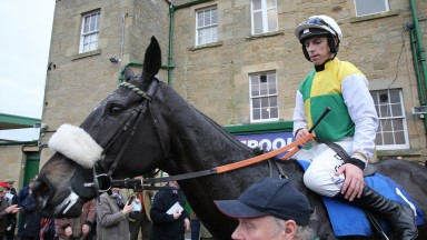 MANY CLOUDS Ridden by Leighton Aspell wins at Kelso 13/3/16Photograph by GROSSICK RACING 07710461723