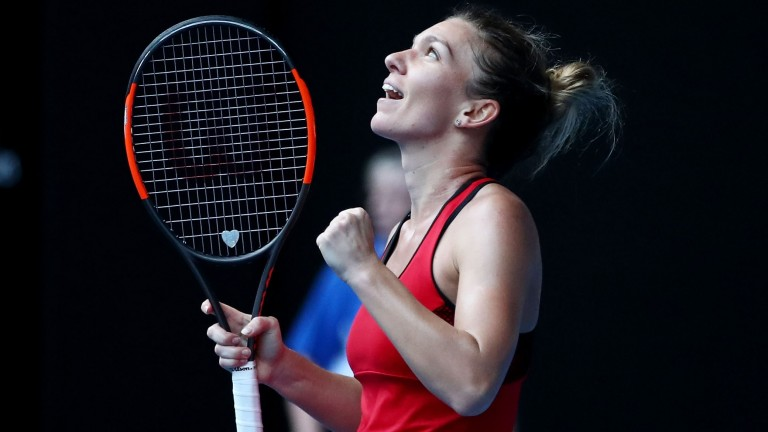 World number one Simona Halep can secure her first Grand Slam title