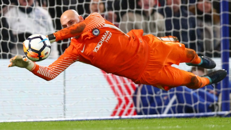 Willy Caballero saves Nelson Oliveira's penalty in Chelsea's shootout win over Norwich