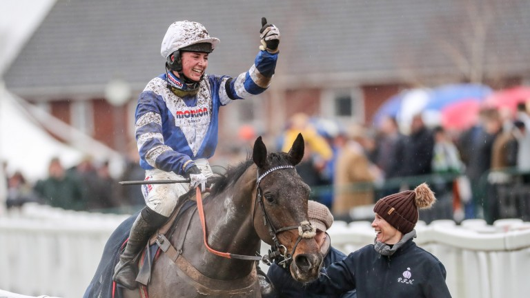 Bryony Frost and Frodon put 17 lengths between themselves and their rivals at Cheltenham in January