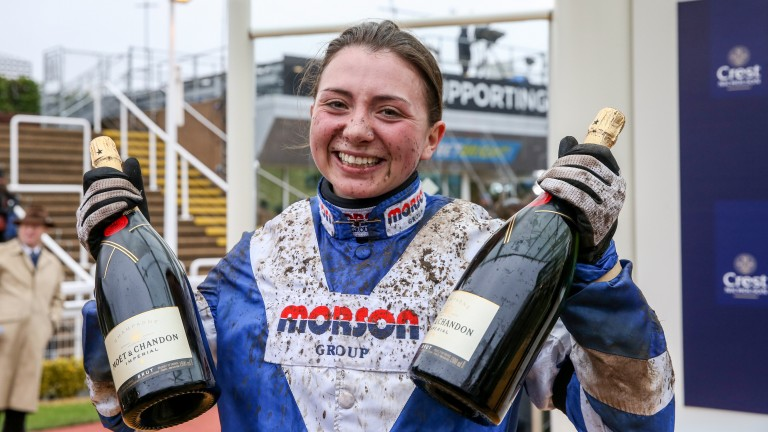 Lovely jubbly: Bryony Frost is all smiles after another Saturday strike