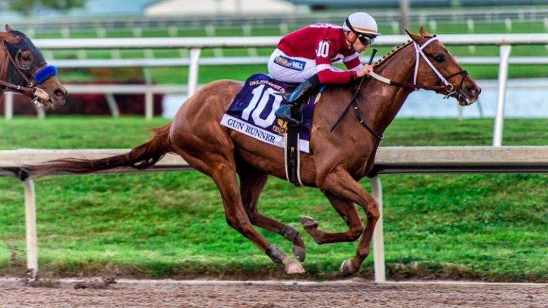 Gun Runner and Florent Geroux complete another great victory in the world's richest race