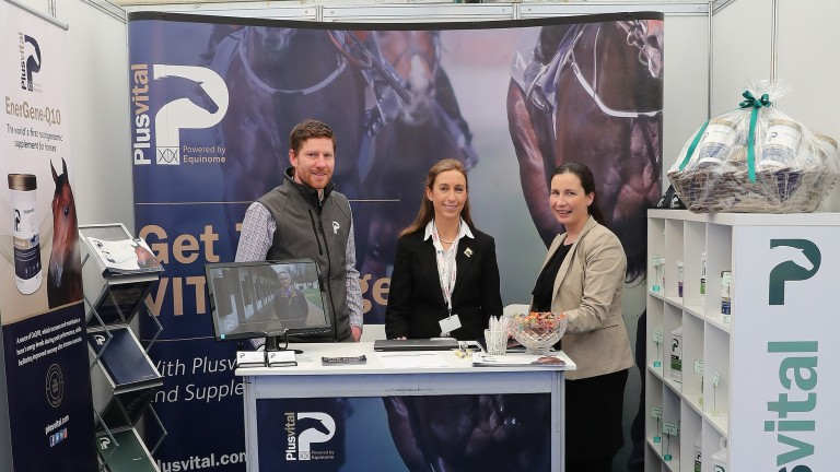 The Plusvital team man their stand at the Expo