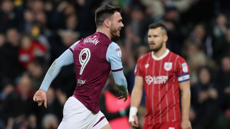 Scott Hogan has scored four goals in Aston Villa's last three matches