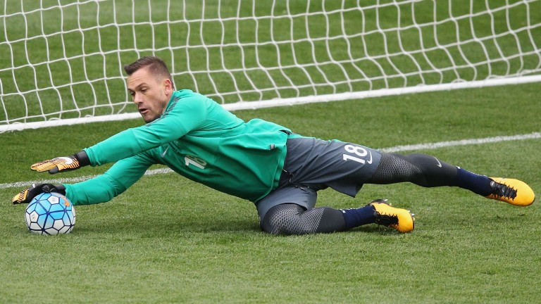 Genk's Australian goalkeeper Danny Vukovic could be kept busy in the first leg