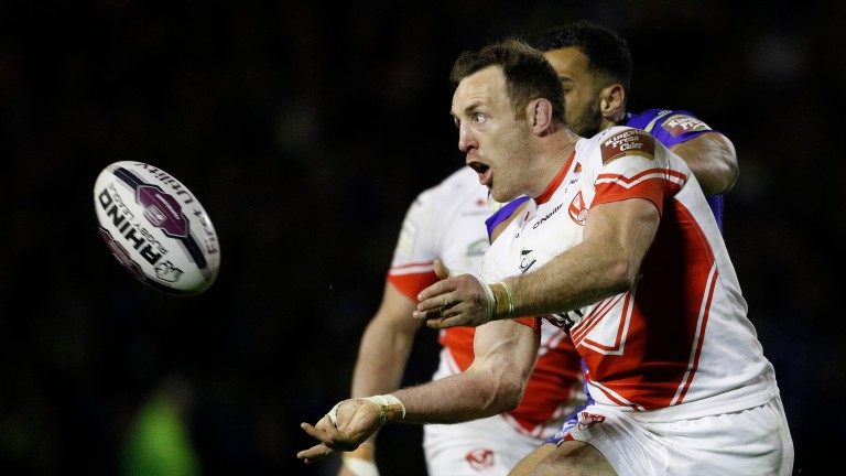St Helens skipper James Roby could be lifting the Super League trophy come October
