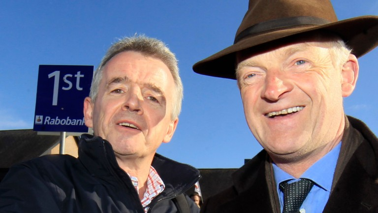 O'Leary and Willie Mullins at Punchestown in 2013, before the split, which the owner concedes may one day heal