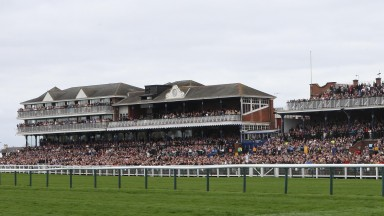 Ayr racecourse: packed for the Scottish Grand National last April