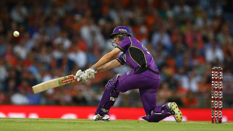 Simon Milenko hits out for Hobart Hurricanes on their recent visit to Perth