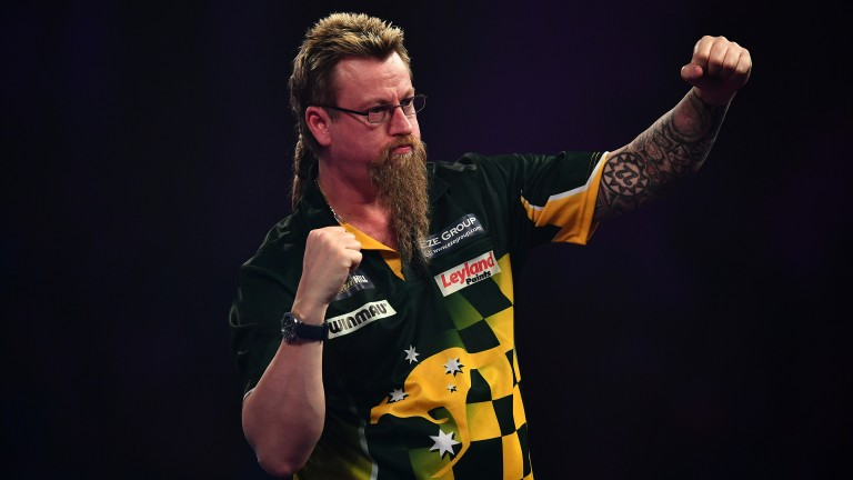 Simon Whitlock has surged to the top of the Premier League table