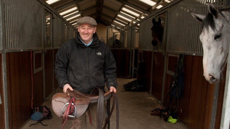 Malcolm Jefferson in the yard at his Newstead Stables in Malton