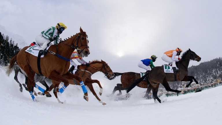 St Moritz : racing resumes on Sunday (Photo by Matthias Hangst/Bongarts/Getty Images)