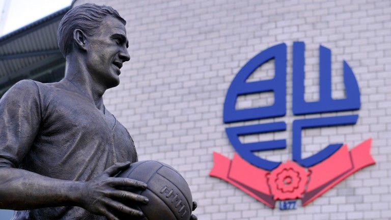 Nat Lofthouse is honoured with a statue outside Bolton's Macron stadium