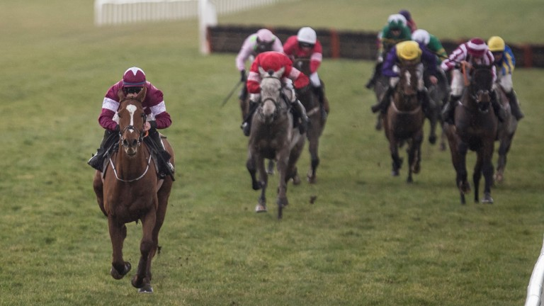 Samcro strolls away from his rivals in the Deloitte Novice Hurdle at Leoparstown