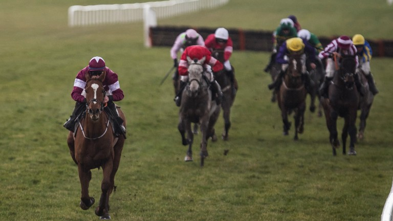 Much the best: the Gordon Elliott-trained Samcro storms clear under Jack Kennedy to land the Grade 1 Deloitte Hurdle