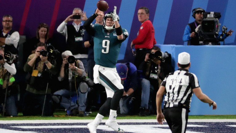 Quarterback Nick Foles turned receiver to score a crucial touchdown for the Eagles