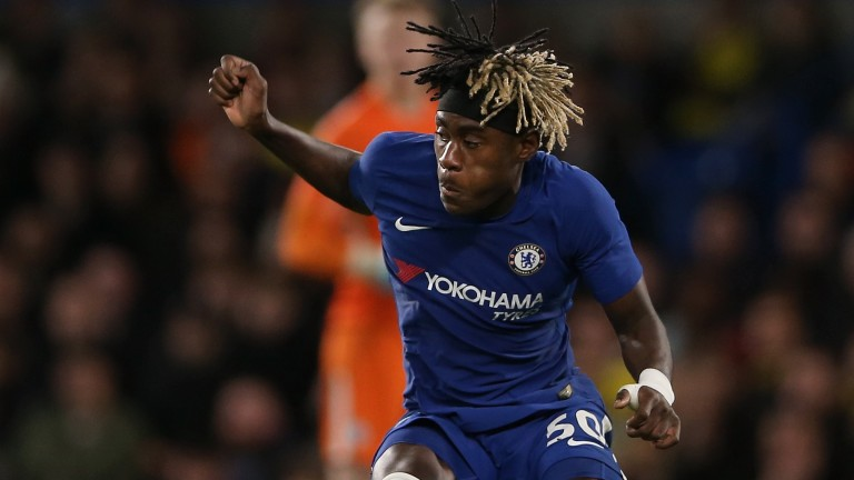 Chelsea's Trevoh Chalobah in action during the Football League Trophy quarter final against Oxford