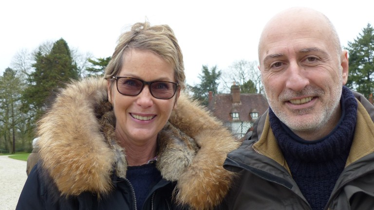Carina Hanson and Niccolo Riva, pictured at Haras du Thenney during the Route des Etalons last month