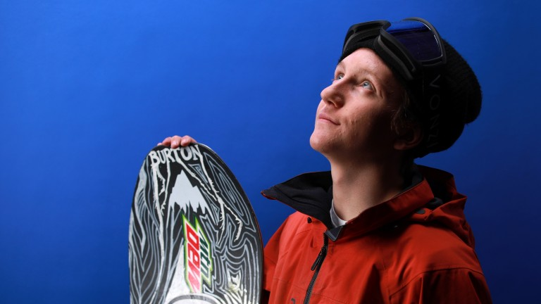 Snowboarder Red Gerard poses for a portrait during the Team USA Media Summit