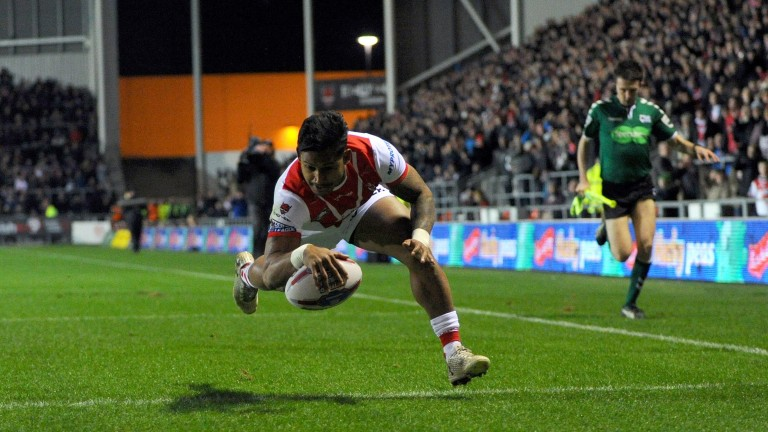 Ben Barba scores the first try in St Helens' 46-6 thrashing of Castleford