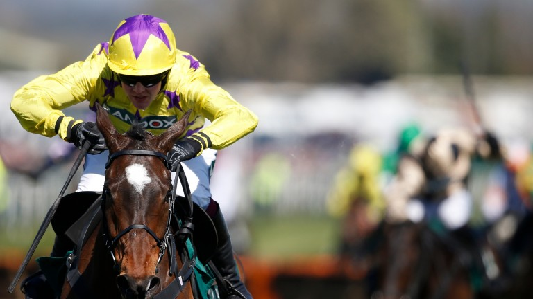 Fountains Windfall draws clear to register a decisive win at Aintree