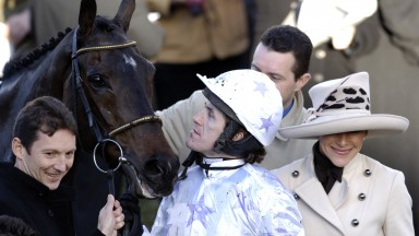 It must be love: A P McCoy only has eyes for Black Jack Ketchum following their Relkeel Hurdle win in 2006