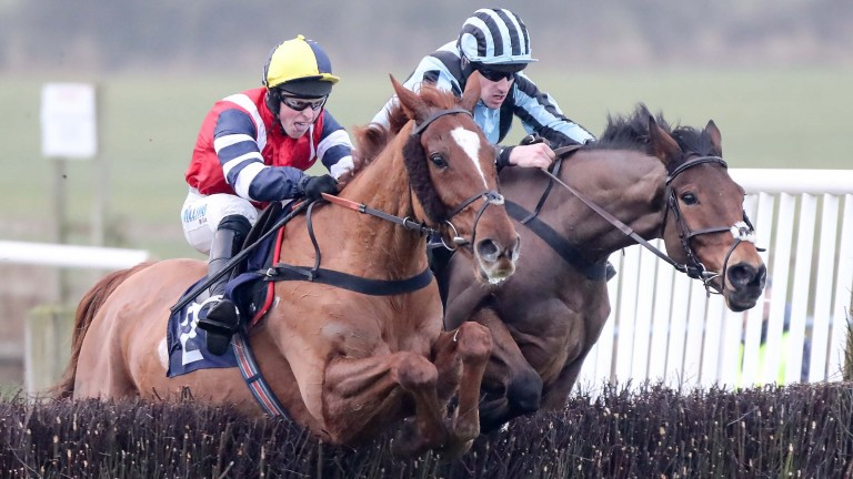 Hedgeinator (James Bowen, left), seen scoring at Sedgefield in January, will be moving with Christian Williams