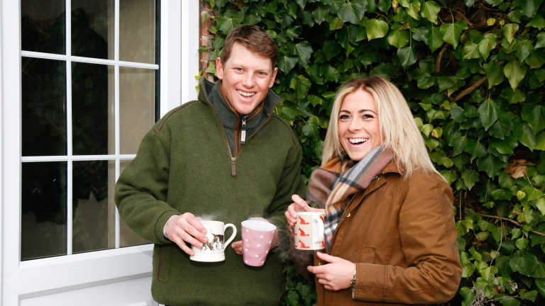 Sammy Jo Bell at home with partner Philip Makin (Jockey)  Thirlby Grange, Thirlby, Thirsk11th Feb 2018 Pic Louise Pollard
