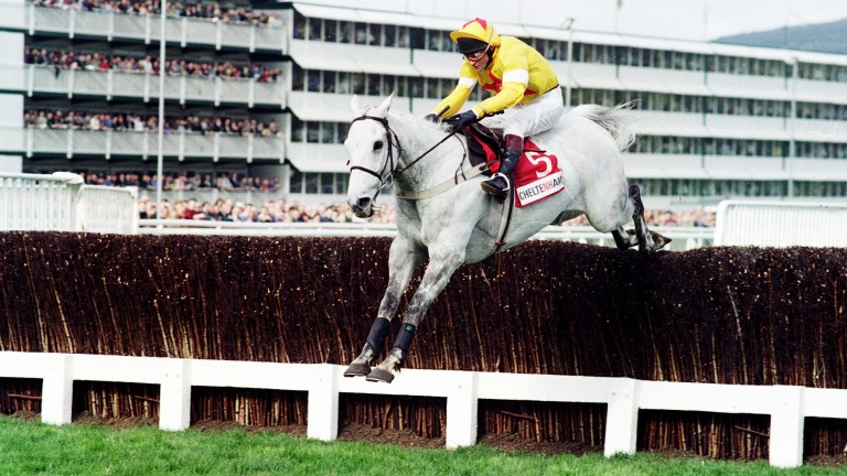 One Man and Brian Harding on their way to success in the 1998 Champion Chase